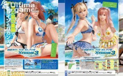 Desvelados los primeros bañadores y bikinis de Dead or Alive Xtreme 3