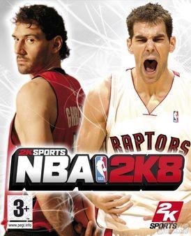 Garbajosa y Calderón, portada de NBA 2K8