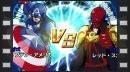 El Capitán América lucha contra Cráneo Rojo en Disk Wars Avengers: Ultimate Heroes