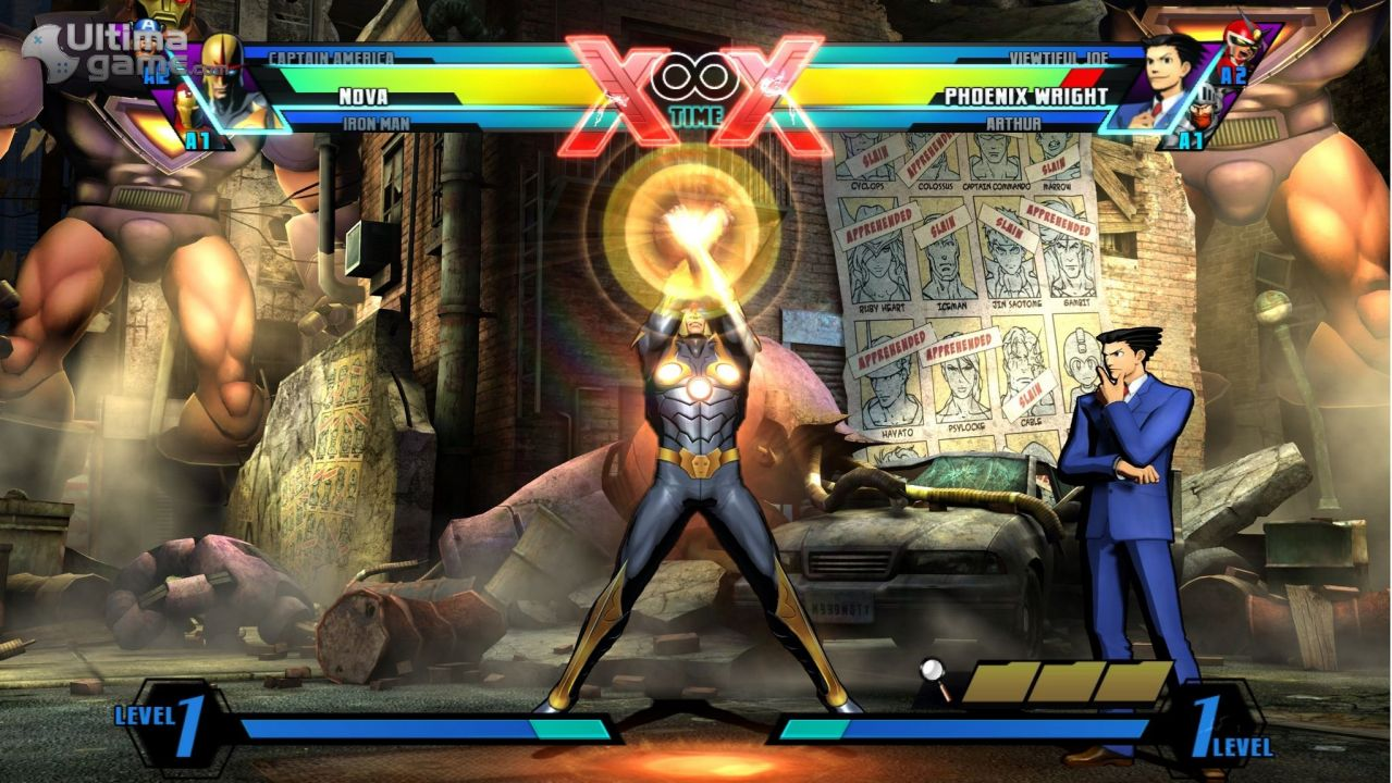 Imágenes de ultimate marvel vs capcom 3 phoenix wright y nova